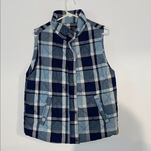 Staccato Blue and White Plaid Vest